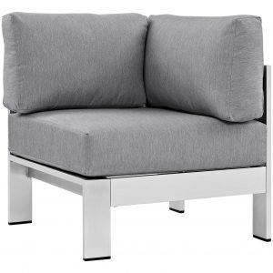 Brushed Aluminum Corner Chair