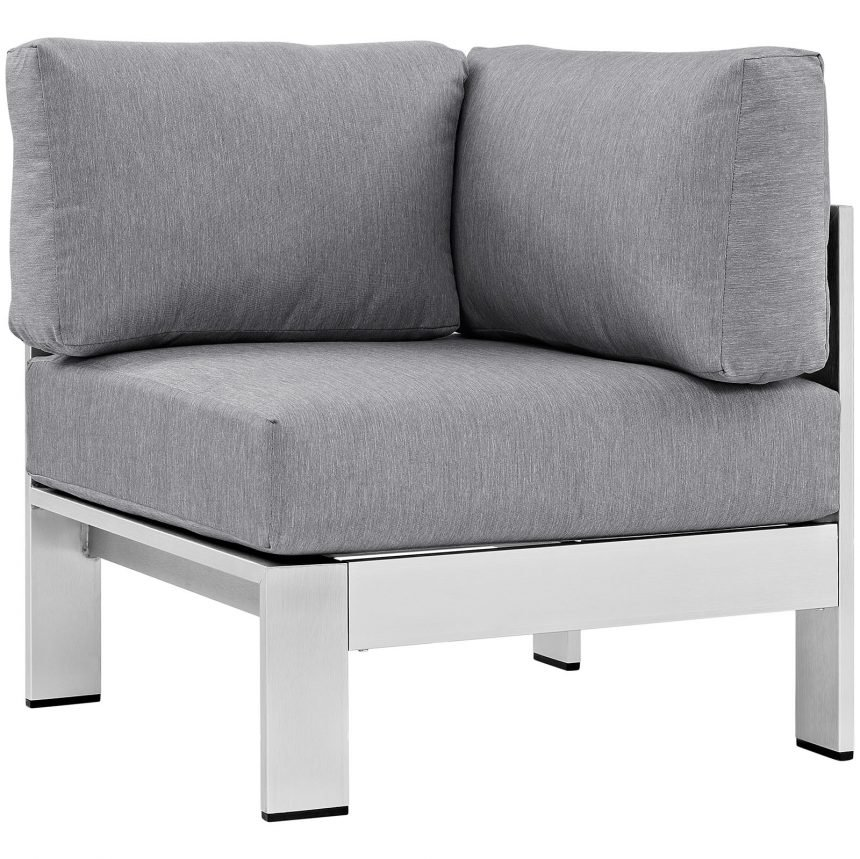 Brushed Aluminum Corner Chair
