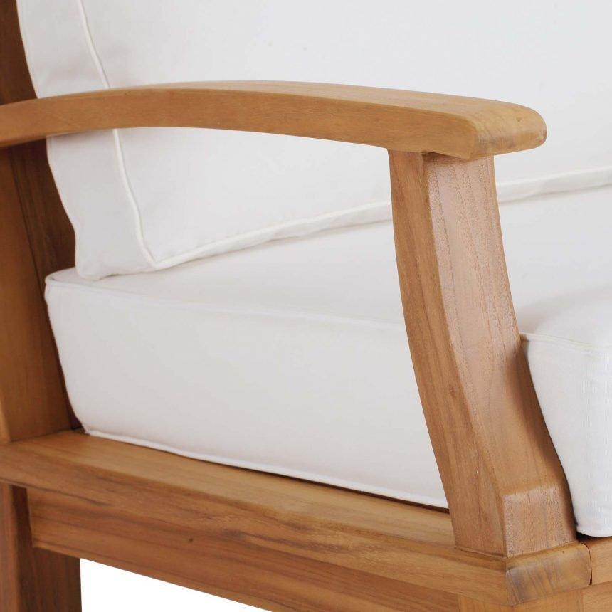Patio Teak Rocking Chair in Natural White Detail EEI-4177