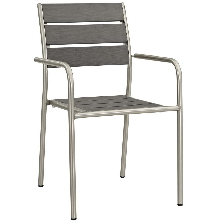 9 Piece Outdoor Patio Aluminum Dining Set in Silver Gray-EEI-3201-SLV-GRY-SET_front chair
