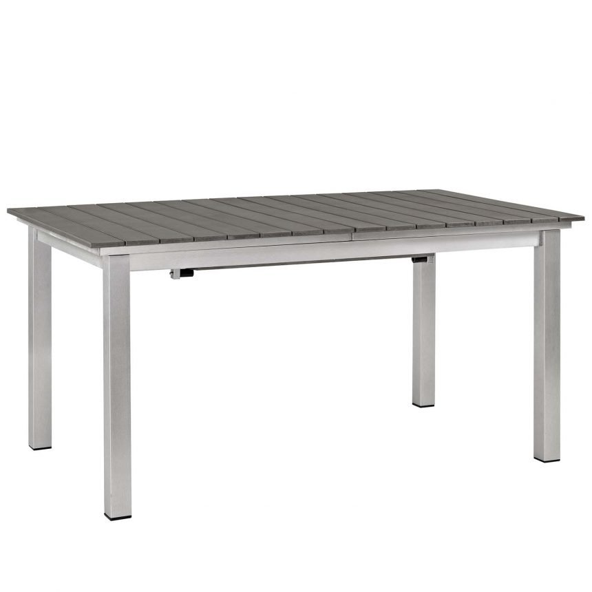 9 Piece Outdoor Patio Aluminum Dining Set in Silver Gray-EEI-3201-SLV-GRY-SET_table 1