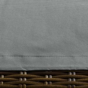 Coffee Table Outdoor Patio Furniture Cover in Gray-EEI-3141-GRY-Up Close