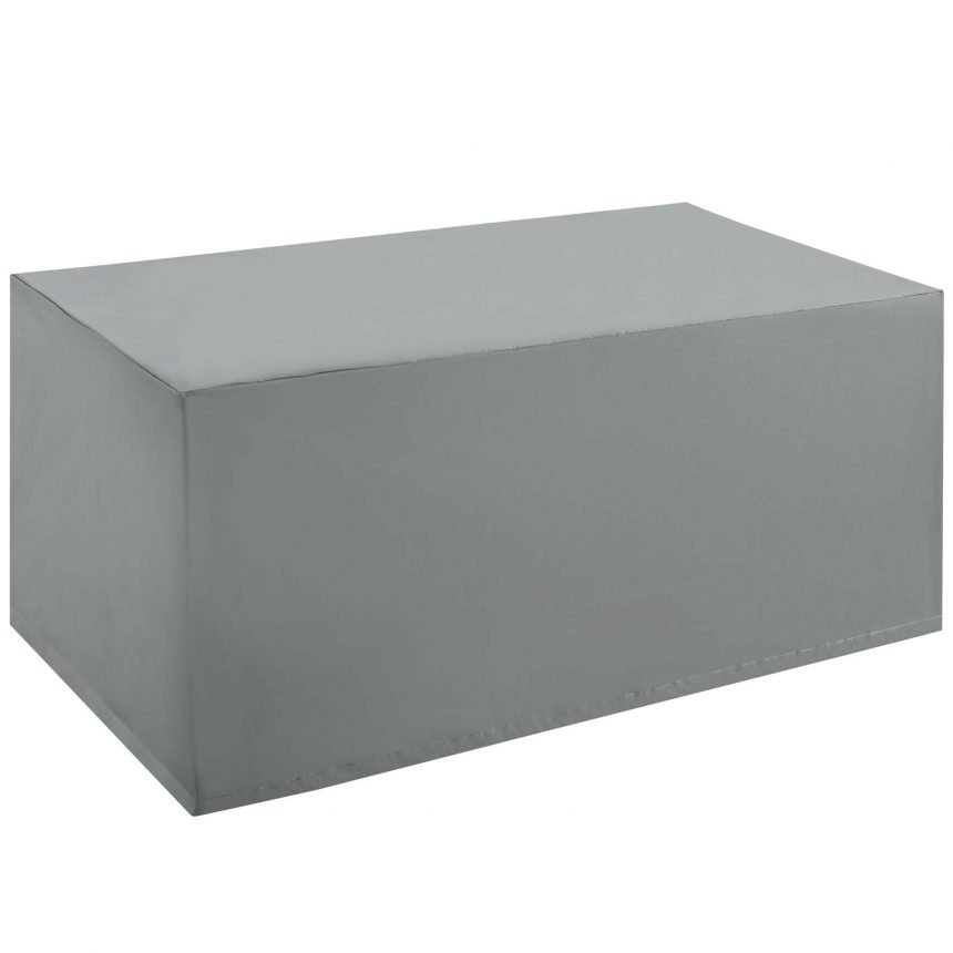 Coffee Table Outdoor Patio Furniture Cover in Gray-EEI-3141-GRY_1-corner view