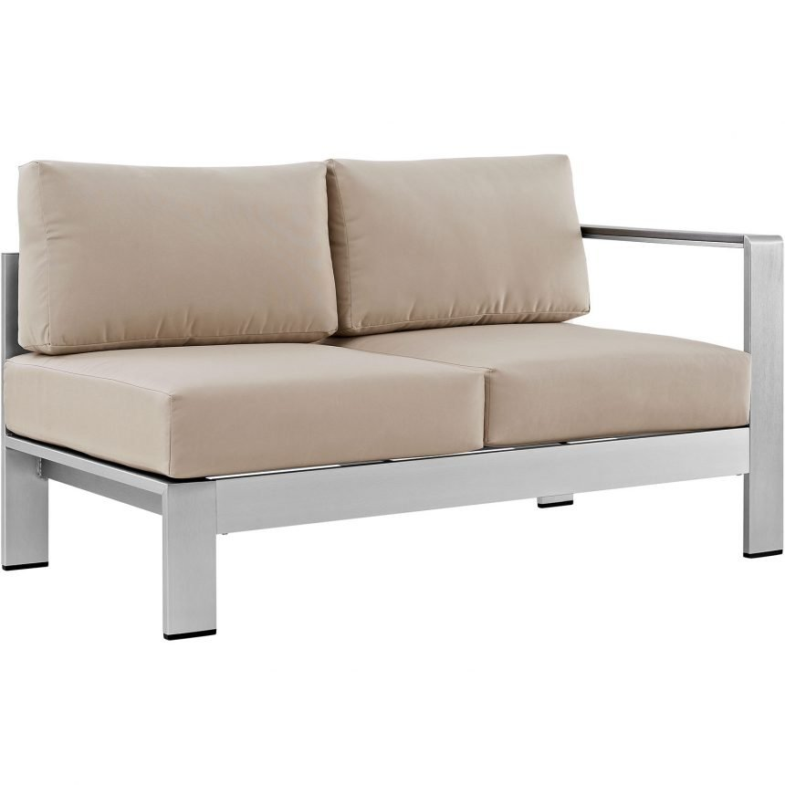 7 Piece Outdoor Patio Sectional Sofa Set in Silver Beige-EEI-2566-SLV-BEI_second side