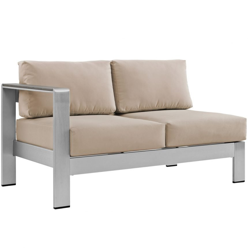 7 Piece Outdoor Patio Sectional Sofa Set in Silver Beige-EEI-2566-SLV-BEI_side sofa
