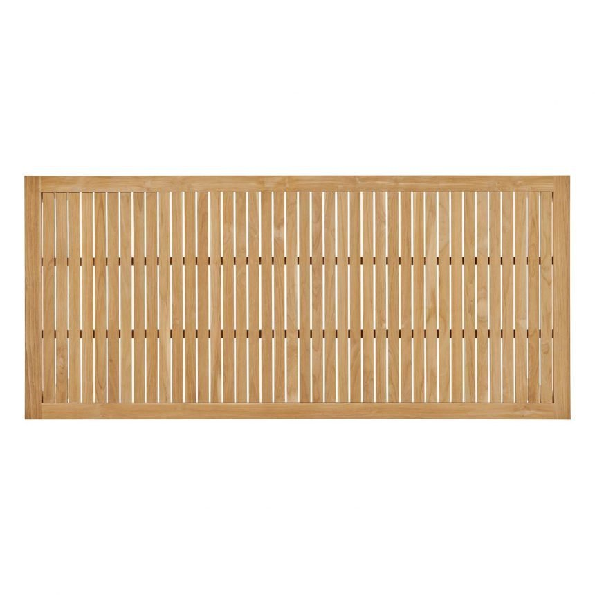 "79"" Outdoor Patio Teak Wood Dining Table in Natural-EEI-3717-NAT_top"