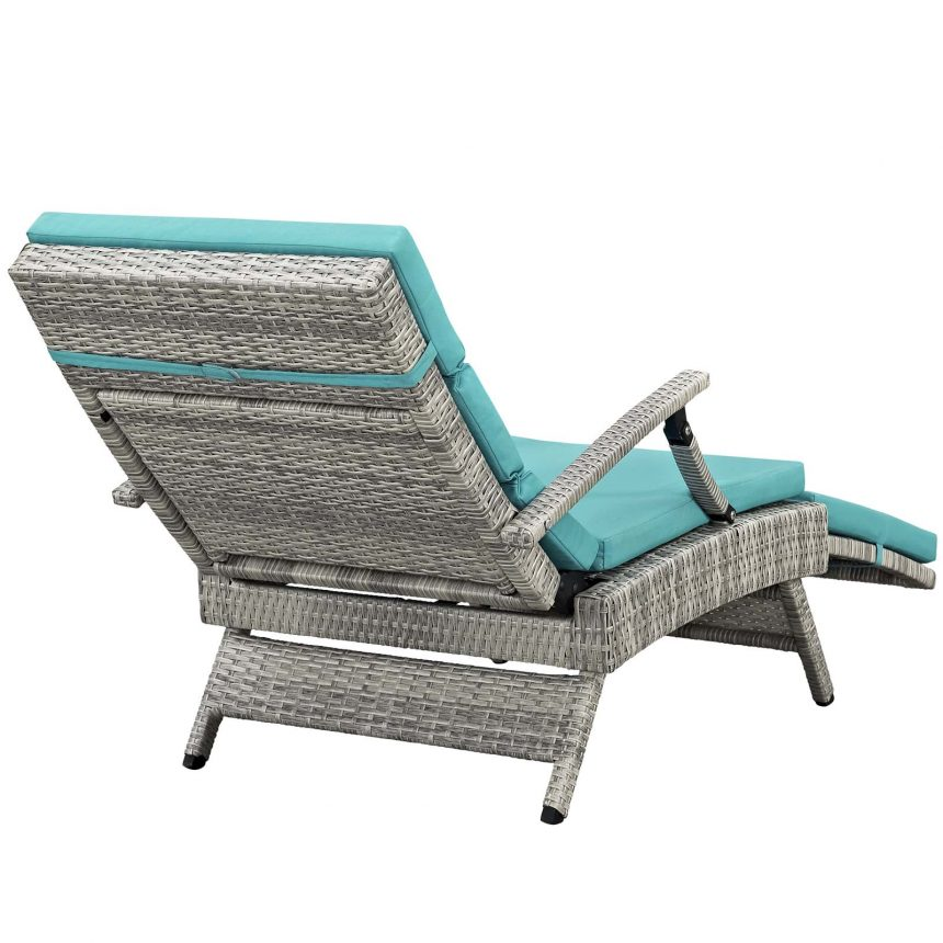 Chaise Outdoor Patio Wicker Rattan Lounge Chair-EEI-2301-LGR-TRQ_Back