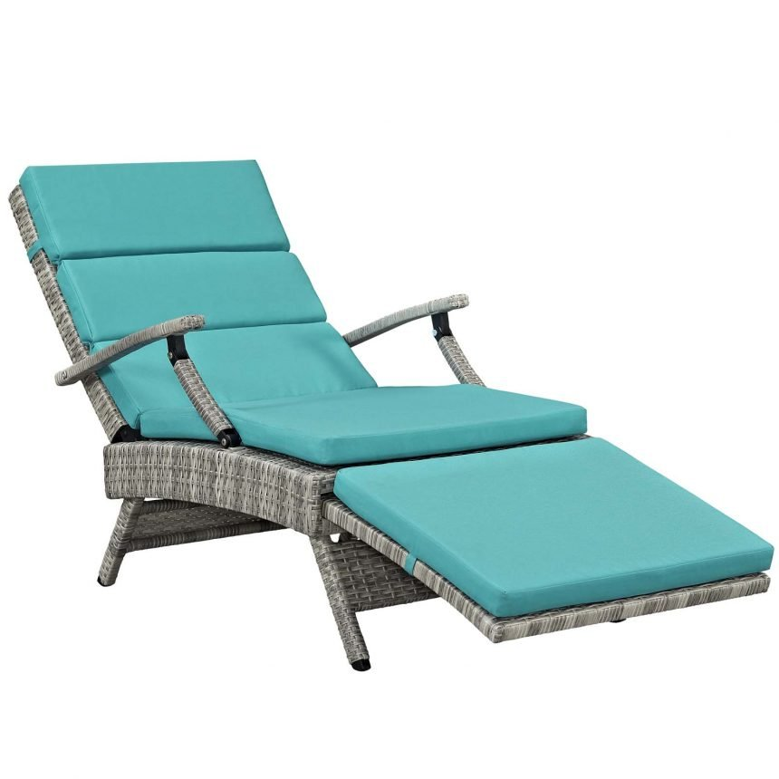 Chaise Outdoor Patio Wicker Rattan Lounge Chair-EEI-2301-LGR-TRQ_more reclined