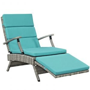 Chaise Outdoor Patio Wicker Rattan Lounge Chair-EEI-2301-LGR-TRQ_reclined