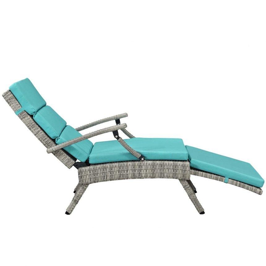 Chaise Outdoor Patio Wicker Rattan Lounge Chair-EEI-2301-LGR-TRQ_side
