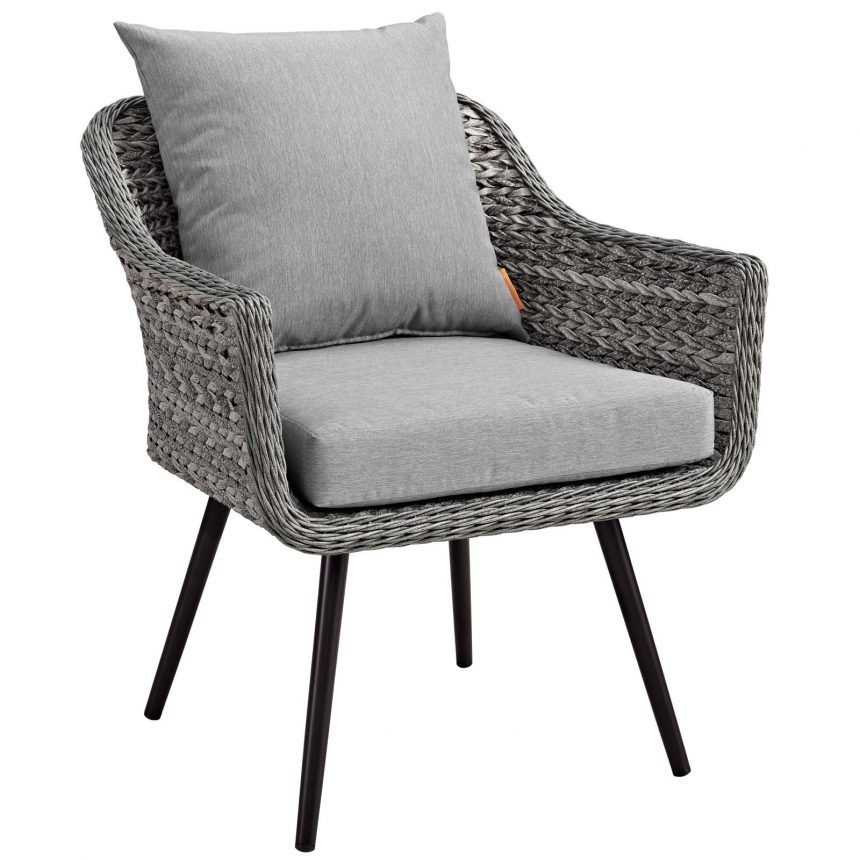 5 Piece Outdoor Patio Wicker Rattan Loveseat Armchair Coffee + Side Table Set-EEI-3178-GRY-GRY-SET_chair front