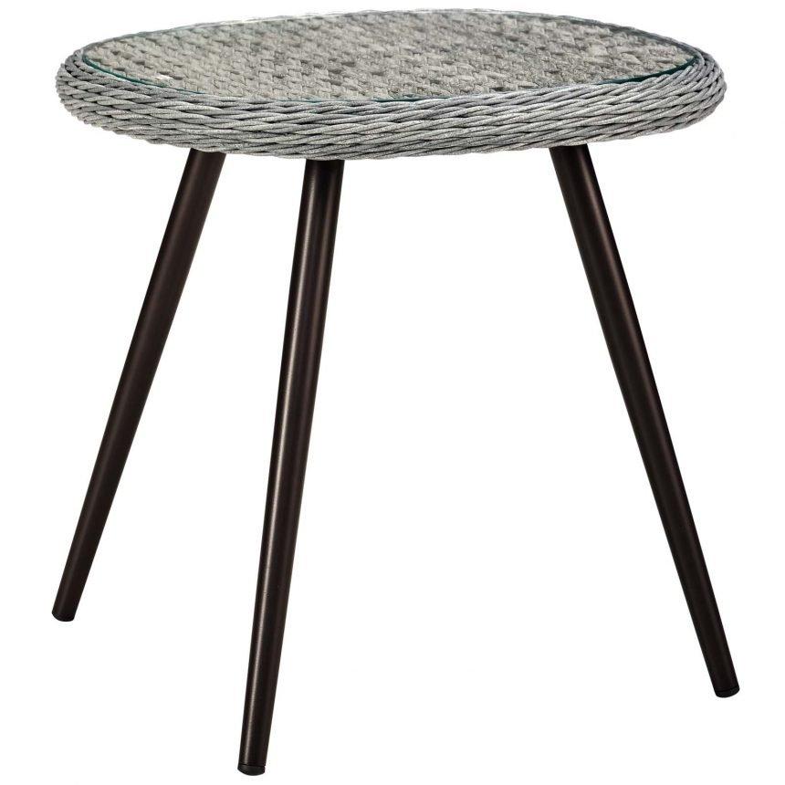 5 Piece Outdoor Patio Wicker Rattan Loveseat Armchair Coffee + Side Table Set-EEI-3178-GRY-GRY-SET_table