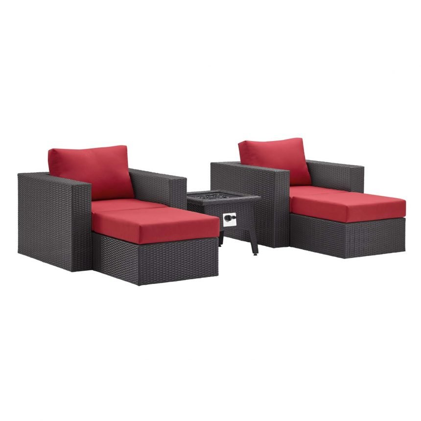 5 Piece Set Outdoor Patio with Fire Pit -EEI-3726-EXP-RED-SET_1_