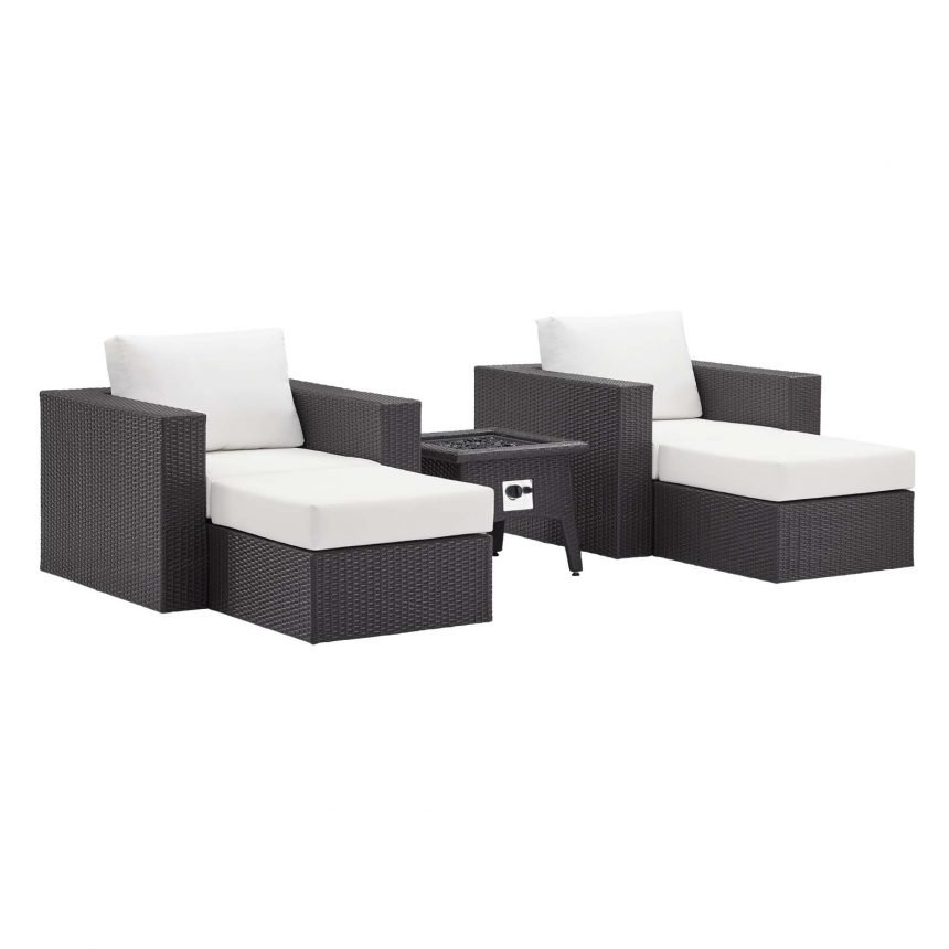 5 Piece Set Outdoor Patio with Fire Pit-EEI-3726-EXP-WHI-SET_1_