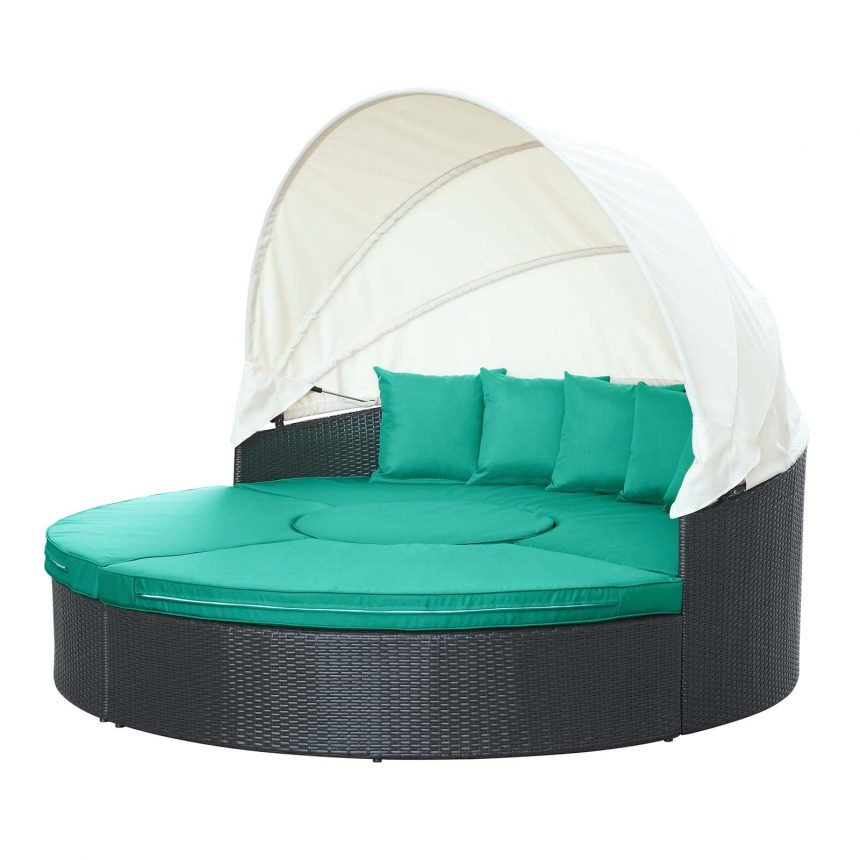 Canopy Outdoor Patio Daybed-EEI-983-EXP-TRQ-SET_1