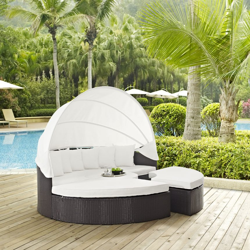 Canopy Outdoor Patio Daybed-EEI-983-EXP-WHI-SET_live white