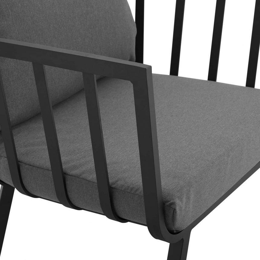 5 Piece Outdoor Patio Aluminum Set-EEI-3786-SLA-CHA_chair close