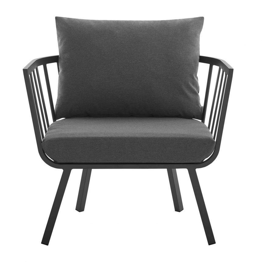 5 Piece Outdoor Patio Aluminum Set-EEI-3786-SLA-CHA_chair front