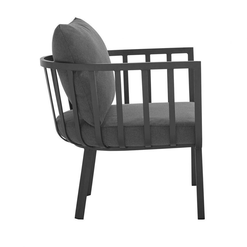 5 Piece Outdoor Patio Aluminum Set-EEI-3786-SLA-CHA_chair side