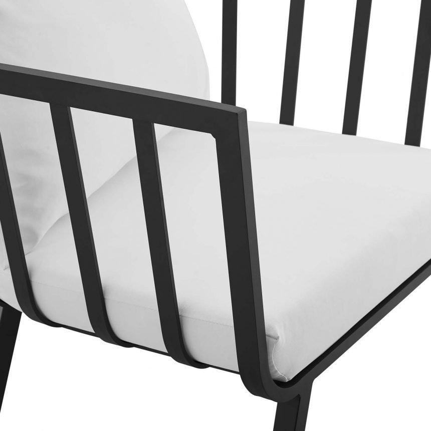 5 Piece Outdoor Patio Aluminum Set-EEI-3786-SLA-WHI_chair arm close
