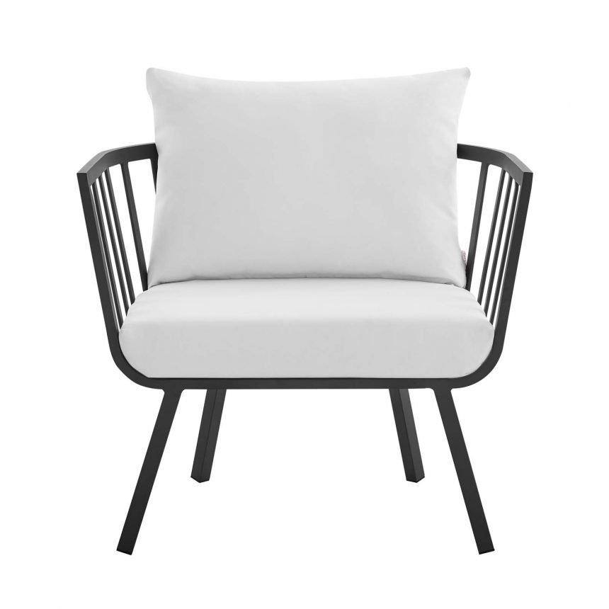 5 Piece Outdoor Patio Aluminum Set-EEI-3786-SLA-WHI_chair front