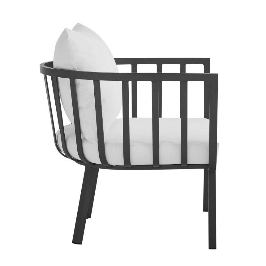 5 Piece Outdoor Patio Aluminum Set-EEI-3786-SLA-WHI_chair side