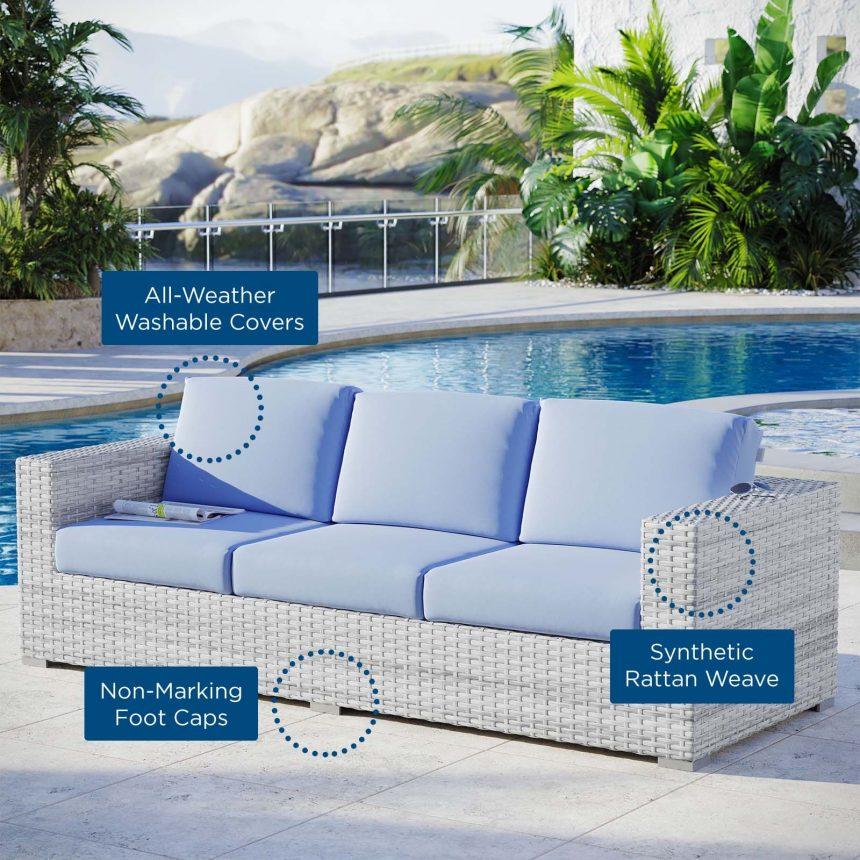 Outdoor Patio Sofa in Light Gray-EEI-4305-LGR-LBU text