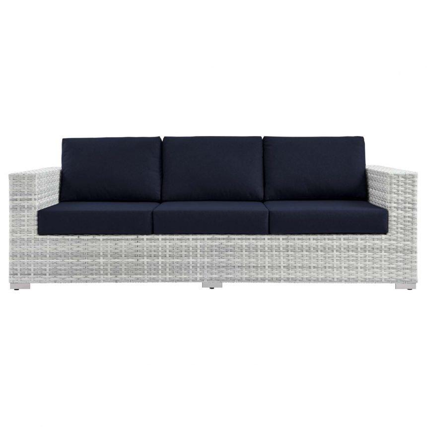 Outdoor Patio Sofa in Light Gray-EEI-4305-LGR-NAV front
