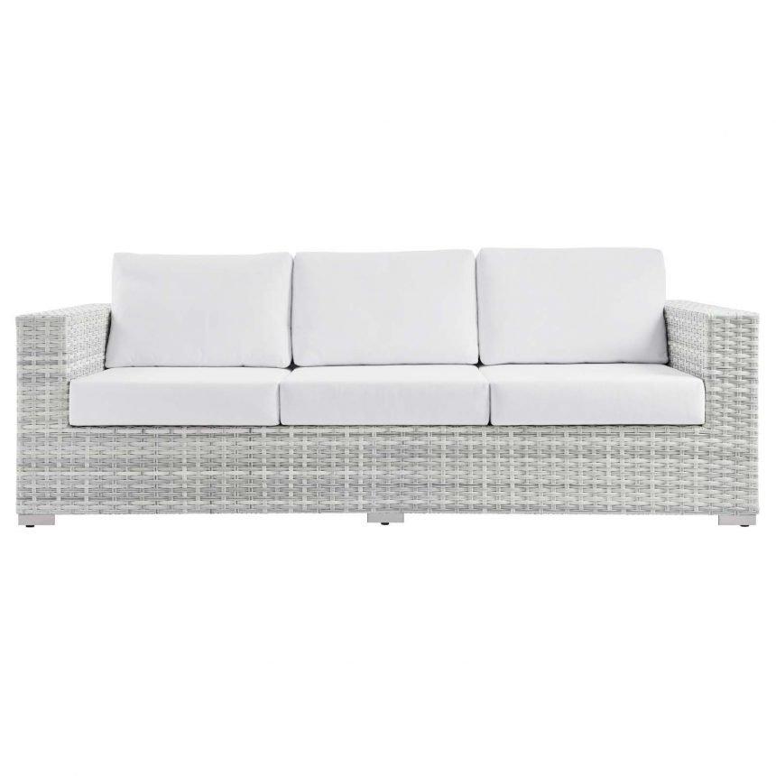 Outdoor Patio Sofa in Light Gray-EEI-4305-LGR-NAV front-EEI-4305-LGR-WHI front