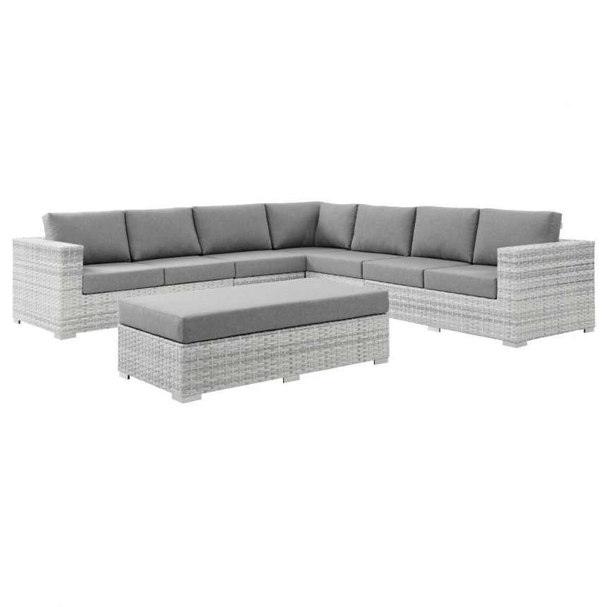 6-Piece Outdoor Patio Sectional Set-EEI-5450-LGR-GRY