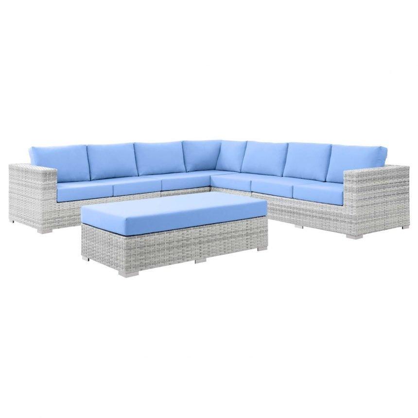 6-Piece Outdoor Patio Sectional Set-EEI-5450-LGR-LBU