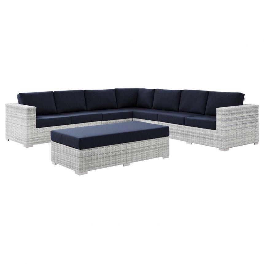 6-Piece Outdoor Patio Sectional Set-EEI-5450-LGR-NAV